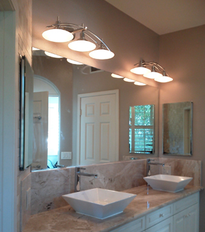 Bathroom Lighting Baratelli Electrician Scripps Ranch Electrician