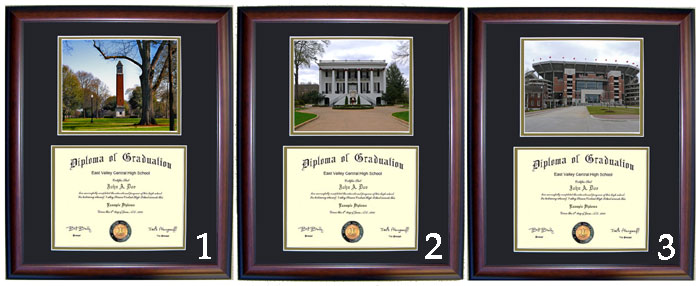 Executive Diploma Frames - All frames $99 - Alabama