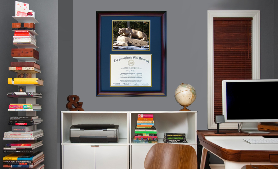 image description all diploma frames