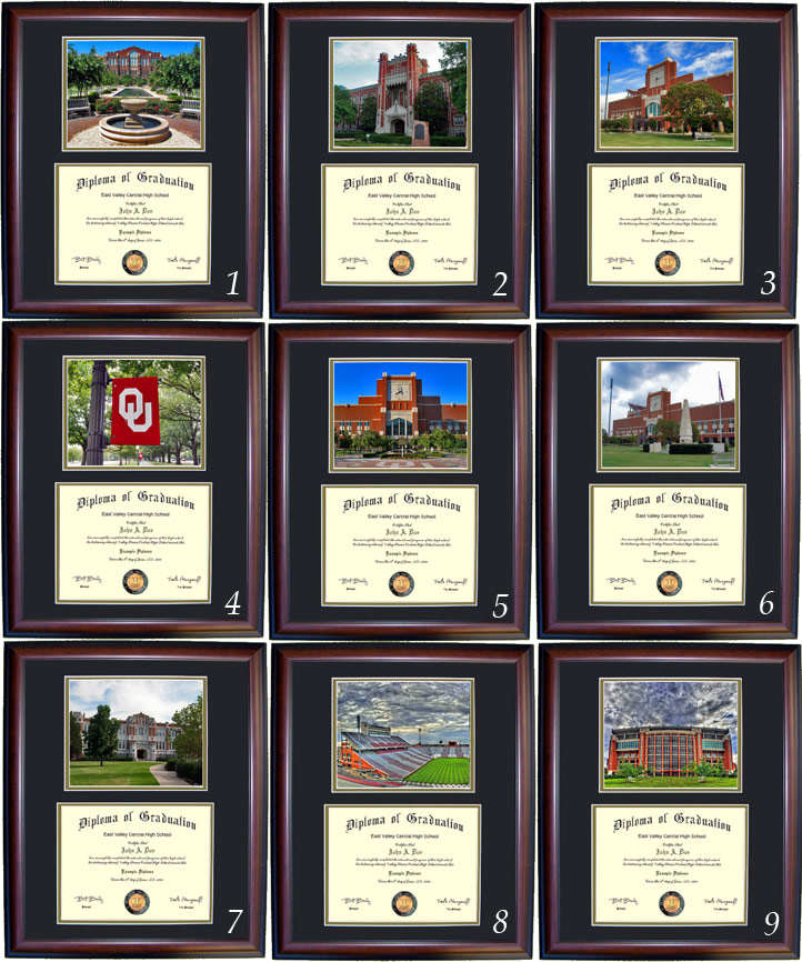 Executive Diploma Frames - All frames $99 - University of Oklahoma