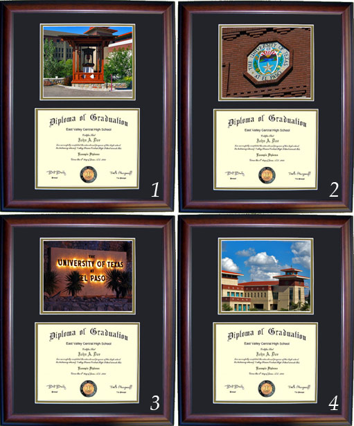 Executive Diploma Frames All Frames 99 Utep