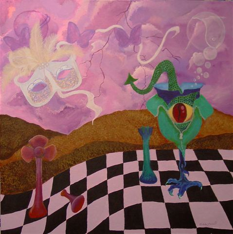 surreal art painting acrylic