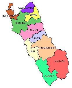 Mapa del Departamento de Lima