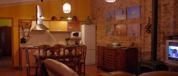Salón y cocina integrada
