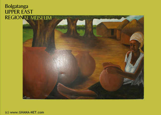 Paintings at Upper East Regional Museum, Bolgatanga