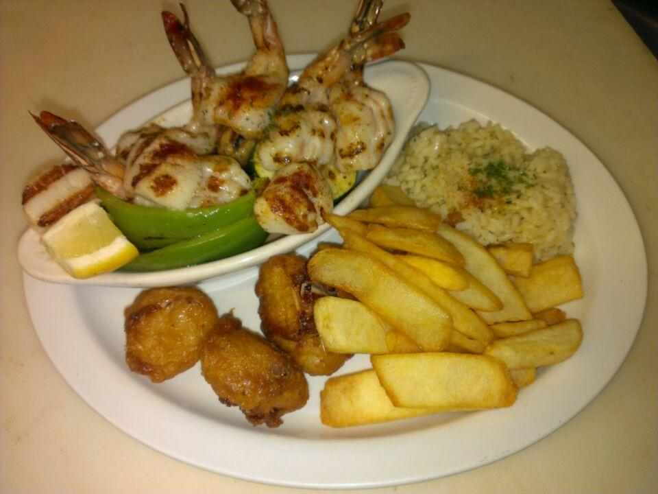 Charbroiled Prawns & Oysters