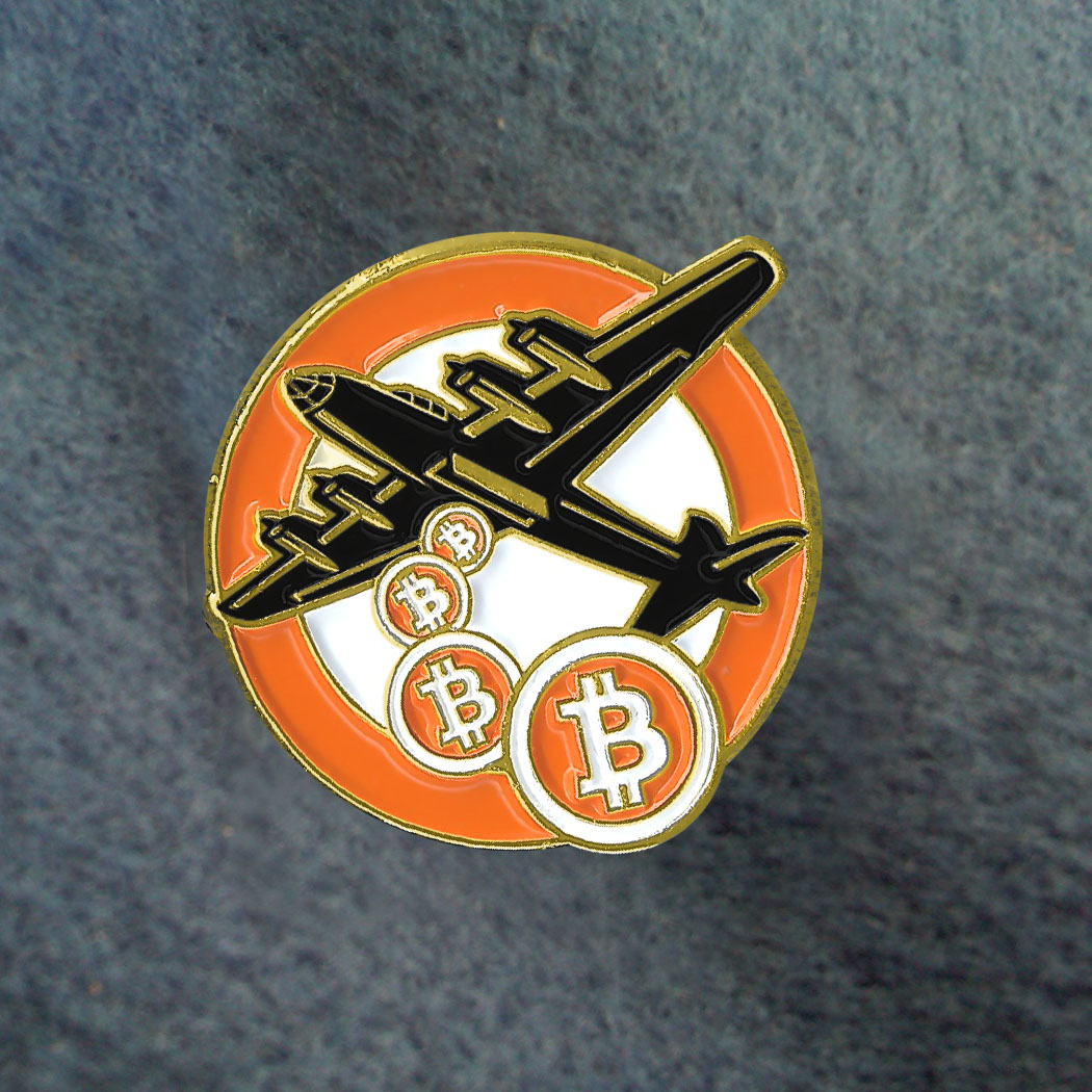 Bitcoin Bomber Pin