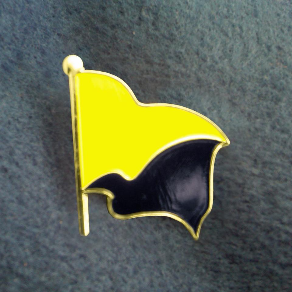 Black and Yellow Flag pin
