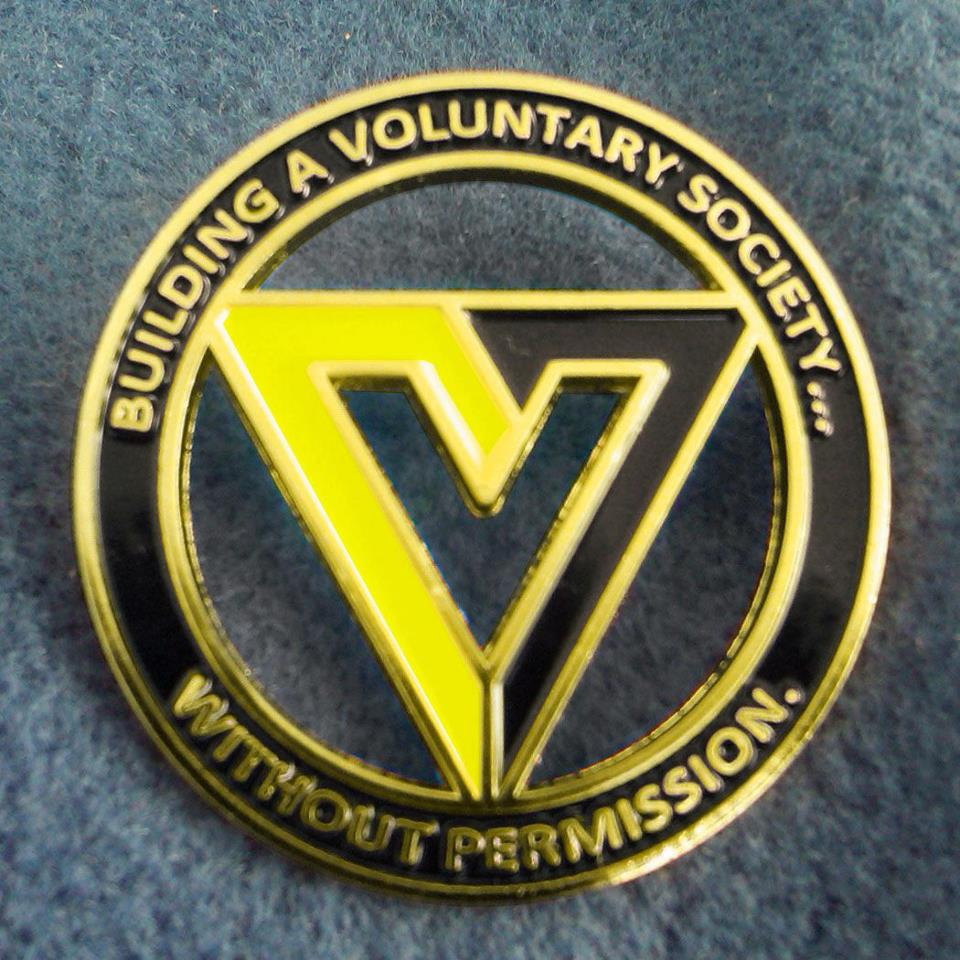 Voluntaryist V Pin
