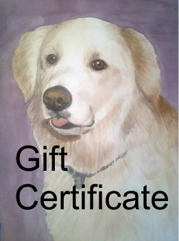 8x10 Gift Certificate