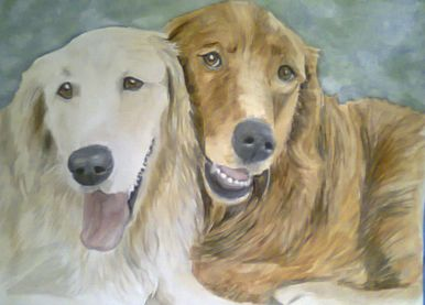 Golden Friendship Dog Portrait