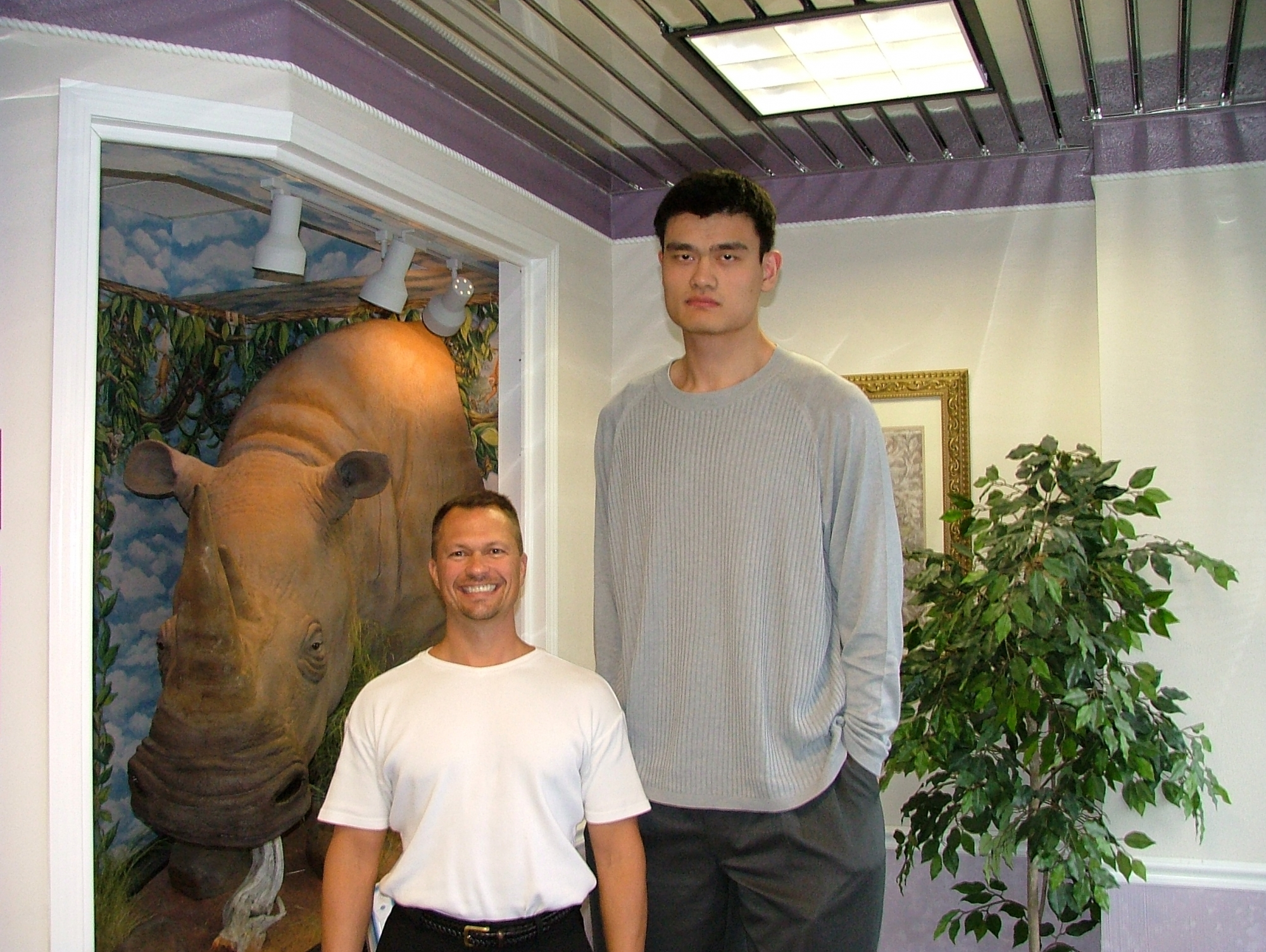 Dr. Bob and Yao Ming
