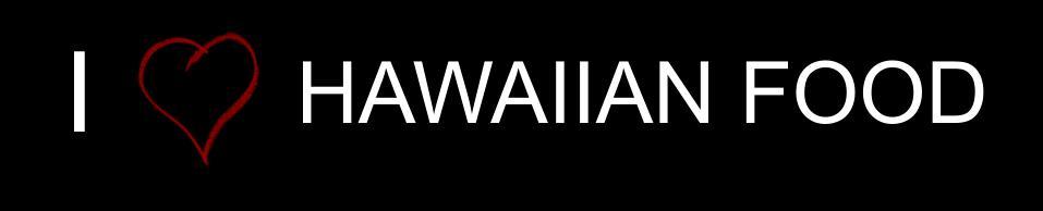 I love hawaiian food sticker