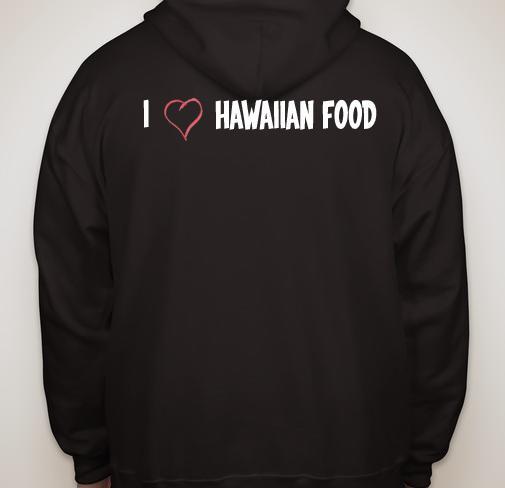 Hawaiian Style Hoodie Black,White or Grey