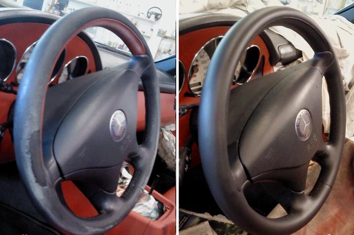 Покраска руля автомобиля своими руками 80