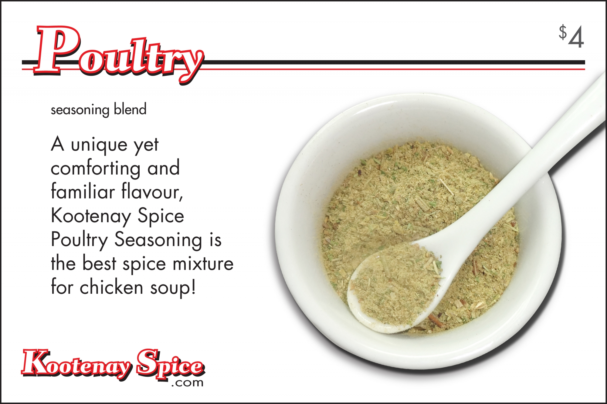 Kootenay Spice Poultry Seasoning