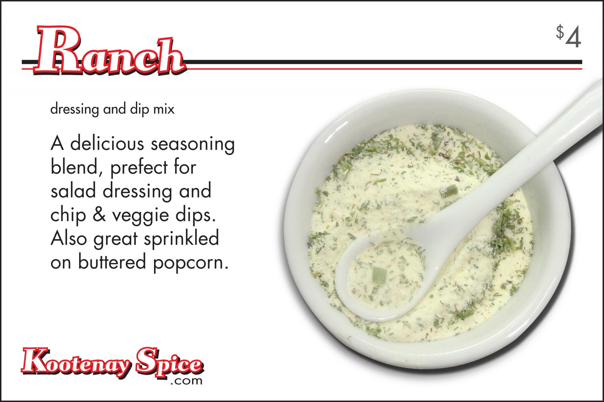 Kootenay Spice Ranch Seasoning