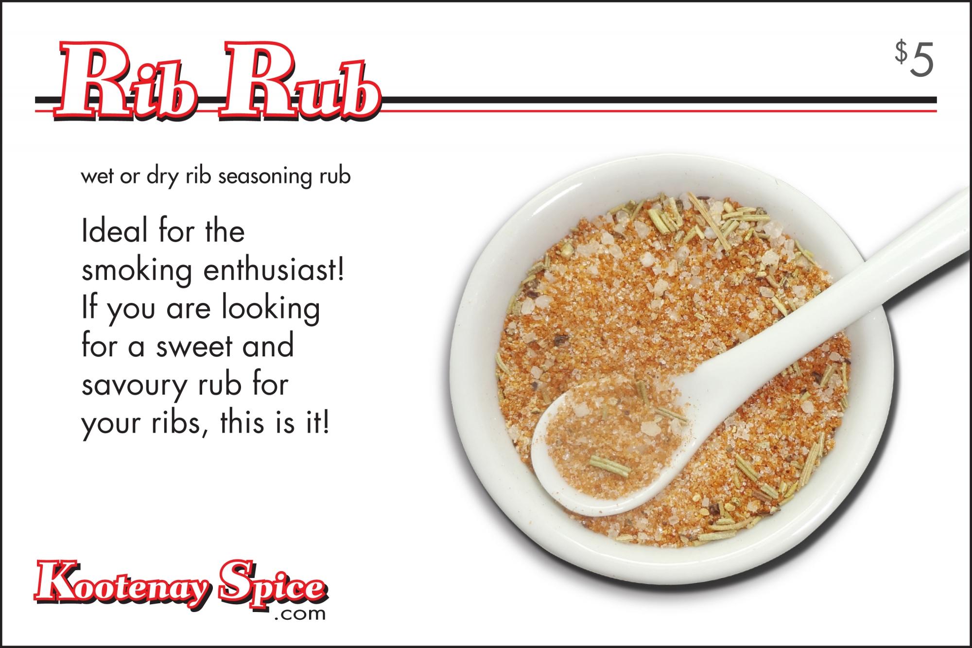 Kootenay Spice Rib Rub