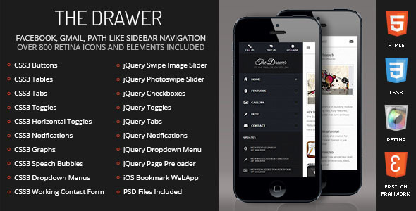 Drawer Mobile Retina