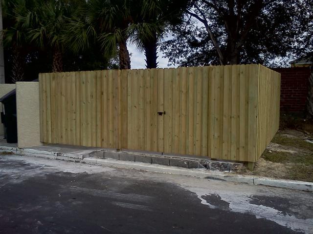 Dumpster Fence