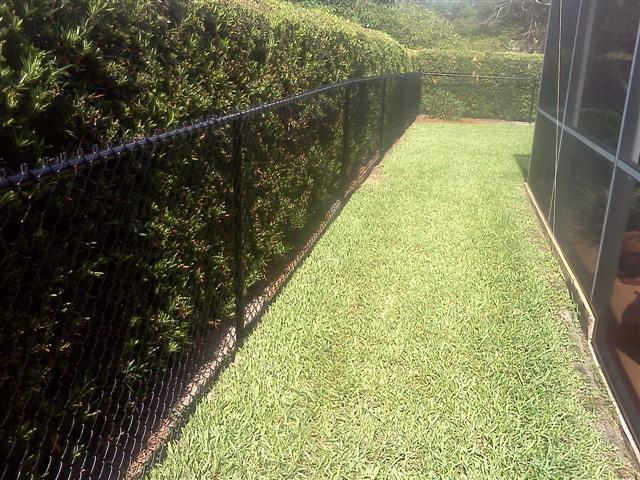 Black chain link fence Orlando