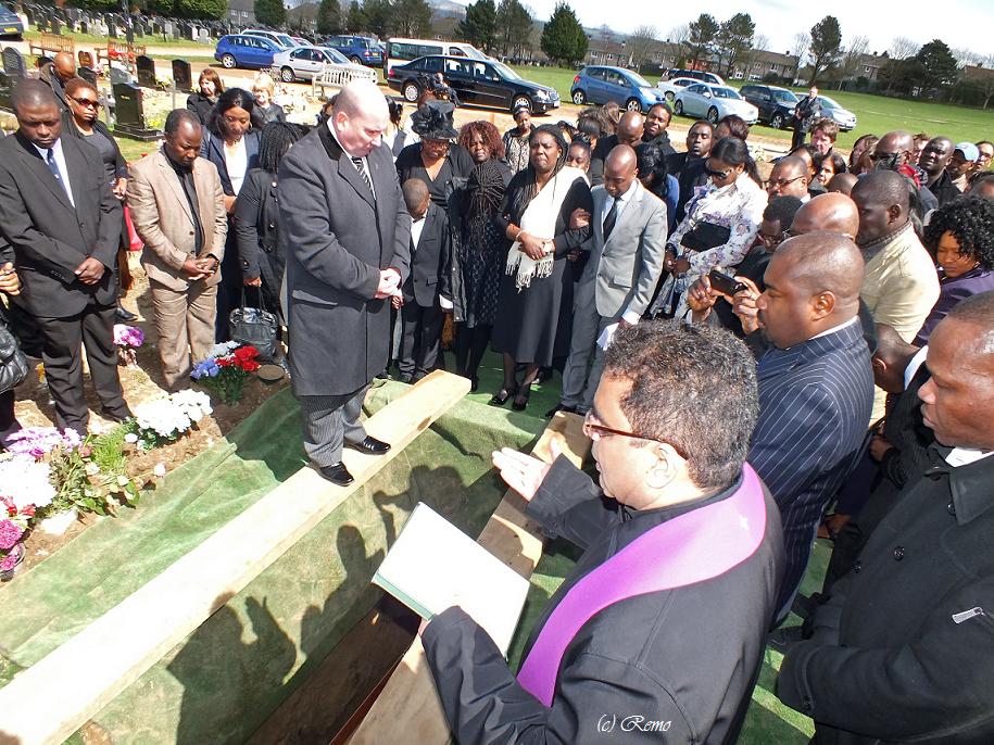 Funeral of Peter Bockarie in Swansea